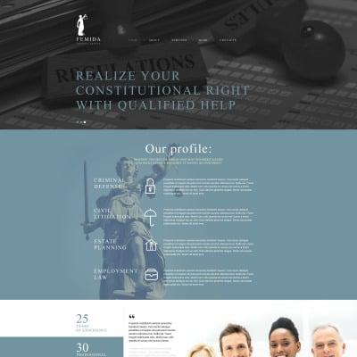 Law Firm Responsive Joomla模板
