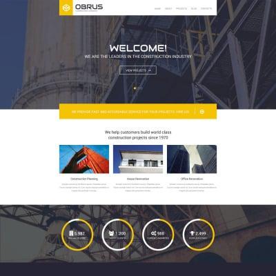 Construction Company Responsive WordPress шаблон