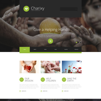 Charity Responsive Joomla模板