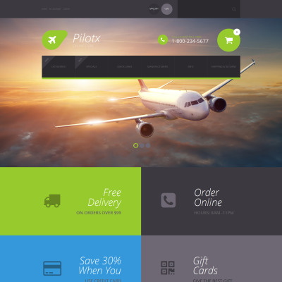 Private Airline Responsive Tema ZenCart