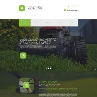 Lawn Mowing Responsive WordPress шаблон