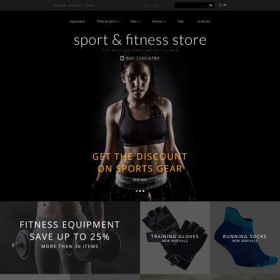 Fitness Responsive OpenCart šablona