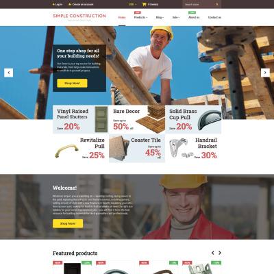 Responsives Shopify Theme für Baufirma