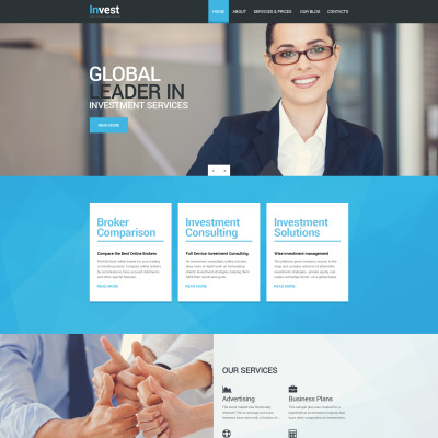 Investment Company Responsive Drupal Template