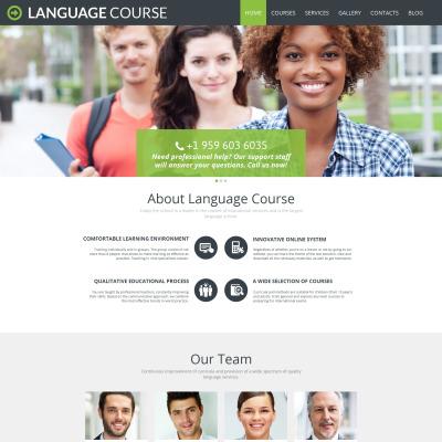 Language School Moto CMS HTML šablona