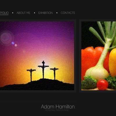 Artist Portfolio PSD Sablon