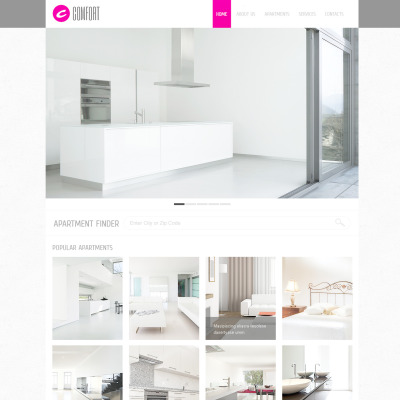Real Estate Agency PSD šablona