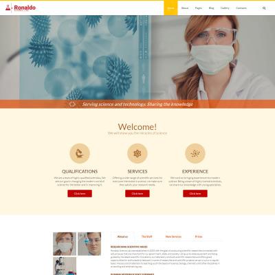 Flexível template Joomla №57553 para Sites de Laboratório Cientifico