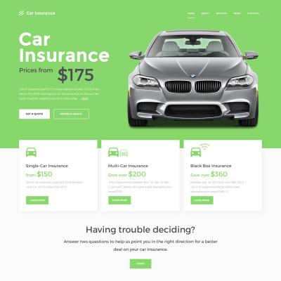 Responsive Website Vorlage für Kfz-Versicherung