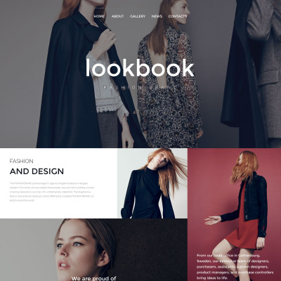 Fashion Responsive Web Sitesi Şablonu