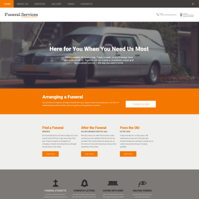 Funeral Services Responsive Drupal模板