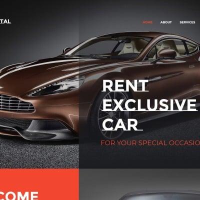 Car Rental Responsive 网页模板