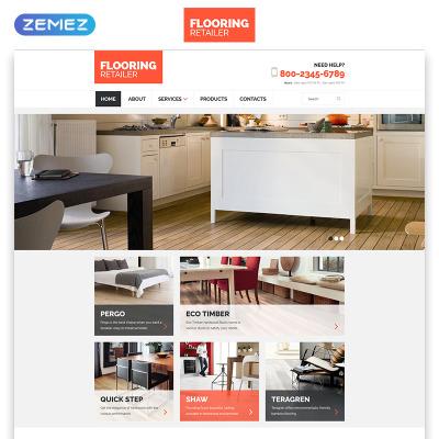 Flooring Responsive Web Sitesi Şablonu