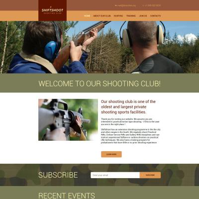 Shooting Responsive Шаблон сайту