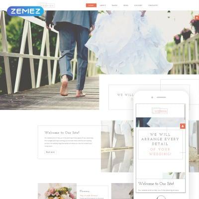 Flexível template Joomla №57670 para Sites de Organizadora de casamento