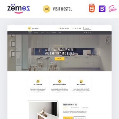 Motel Responsive Weboldal Sablon