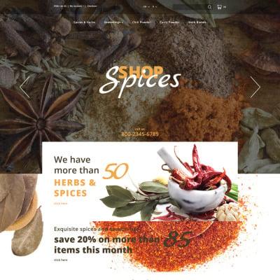 Spice Shop Responsive OpenCart šablona