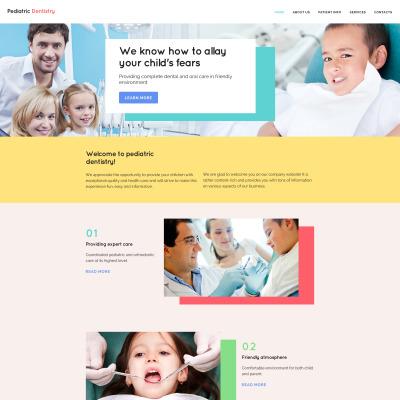 Modèle Web adaptatif  pour site de dentisterie