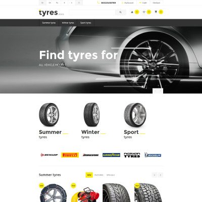 Wheels & Tires Responsive OpenCart šablona