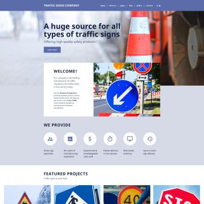 Traffic School Responsive Joomla шаблон