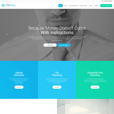 Financial Advisor Responsive Tema WordPress