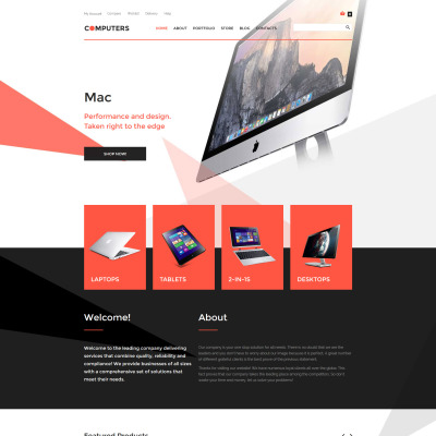 Computer Store Responsive WooCommerce Motiv