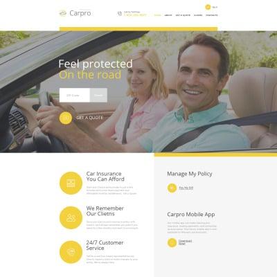 Car Insurance Responsive 网页模板