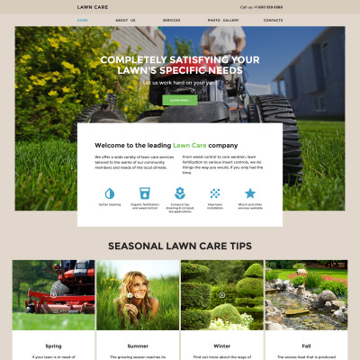 Lawn Mowing Responsive Website Template