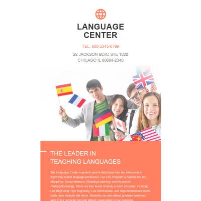 Language School Responsive Nieuwsbrief Template