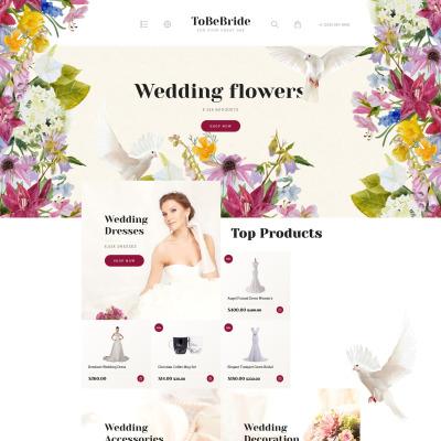 Wedding Shop Responsive OpenCart šablona