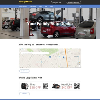 Auto Parts Responsive Website Template