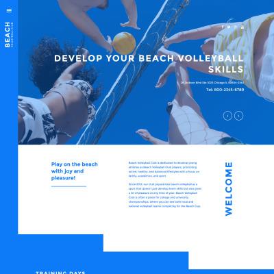 Flexível template Joomla №57998 para Sites de Voleibol