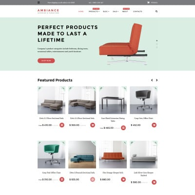 Shopify Theme für Innenausstattung und Möbel