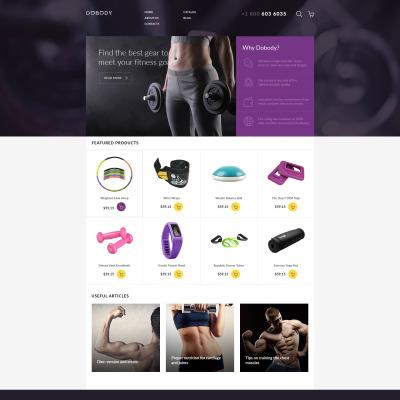 Responsive VirtueMart Vorlage für Fitness