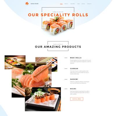 Responsive Website Vorlage für Sushi Bar