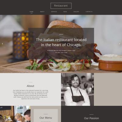Italian Restaurant Responsive Шаблон сайту