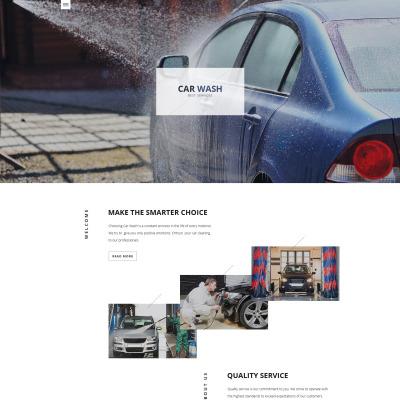 Responsive Website Vorlage für Autowäsche