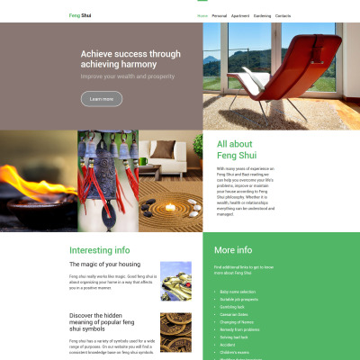 Feng Shui Responsive Website Template
