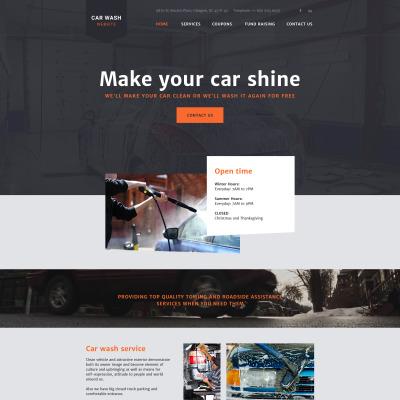 Car Wash Responsive 网页模板