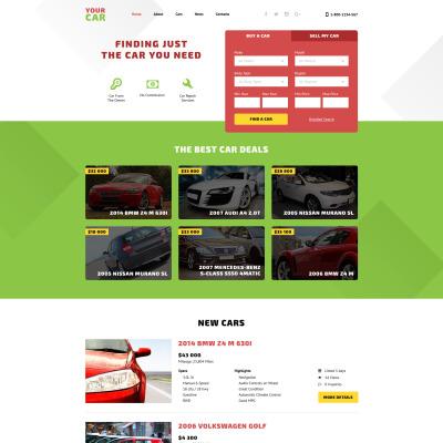 Car Dealer Responsive 网页模板