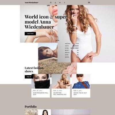 Modèle Web adaptatif  pour portfolio d'un