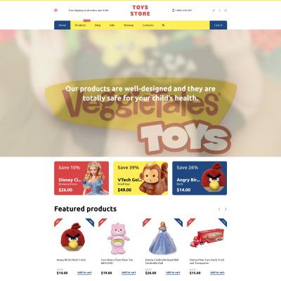 Toy Store Responsive Shopify Motiv