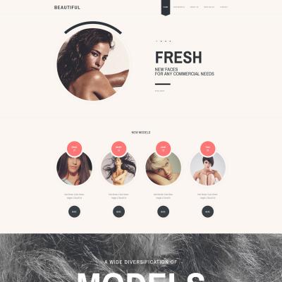 Modèle Web adaptatif  pour agence de mannequins