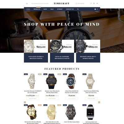 Watches Responsive Shopify шаблон