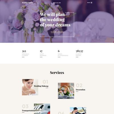 Wedding Planner Responsive Шаблон сайту