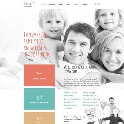 Responsive Joomla Vorlage für Familienzentrum