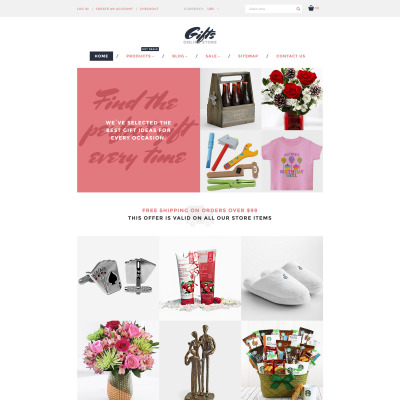 Gifts Store Responsive Shopify шаблон