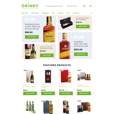 Food & Drink Responsive OpenCart шаблон