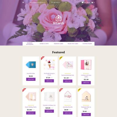 Wedding Responsive OpenCart šablona