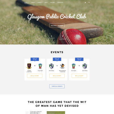 Cricket Responsive Joomla Template